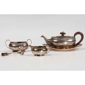 British Sterling Partial Tea Set, Plus