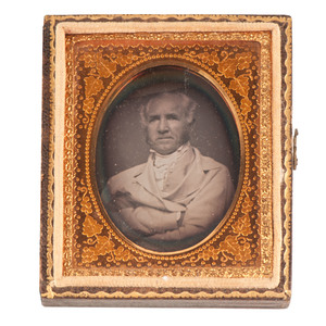 Sam Houston, Unpublished Ninth Plate Daguerreotypes of the Texas President, Governor and US Senator, and His Wife Margaret Lea Houston