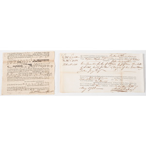 Revolutionary War-Era Documents Signed by Important Colonial Statesmen Andrew Adams and Stephen Hopkins, 1781-82