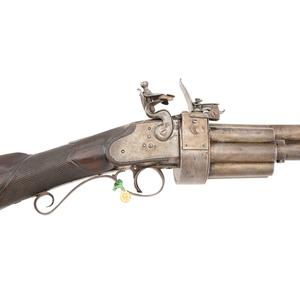U.S. Artemus Wheeler Revolving Flintlock Rifle