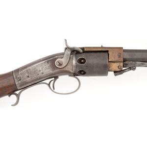 Springfield Arms Automatically Revolved Brass Open Frame Warner Revolving Rifle