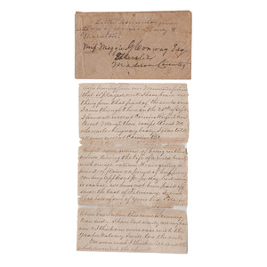 CSA Letter from Francis Fitzhugh, Charlottesville Light Artillery, Referencing the Battle of Cedar Creek