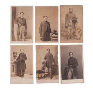 New York Heavy Artillery CDV Collection, Lot of 6