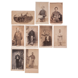 Lot of 9 New York Cavalry CDVs, Including General Hugh Judson Kilpatrick