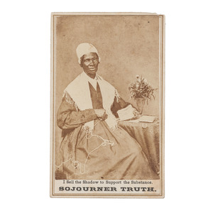 Sojourner Truth with Flowers, CDV