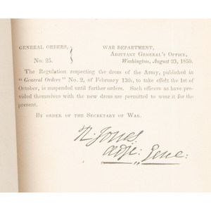 [Americana - Mexican War - General Orders, Etc.]  Bound Volume of Original  Army Registers and Orders, Over 700 Pages Original Printed Documents 1845-1850, War With Mexico - Army and Navy