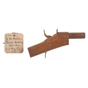 J.M. Mason Breech Loading Firearm Patent: Model No. 117, 906