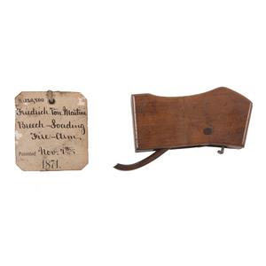 Friedrich Von Martini Breech Loading Firearm Patent: Model No. 120, 800
