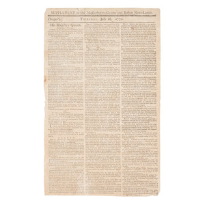 Boston Massacre Supplement to the Massachusetts Gazette and Boston News-Letter, July 26, 1770
