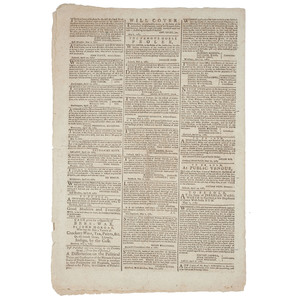 [Americana - 18th C. Newspaper]  The Connecticut Courant and Weekly Intelligencer, Revolutionary War Era Newspaper, Hartford, CT, 1783