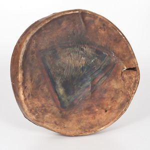 Plains Painted Hide Drum