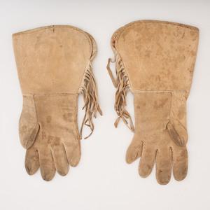 Shoshone Beaded Hide Gauntlets