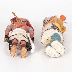 Hopi Tasaf and Koyemsi Katsinas, From the Collection of Charles McNutt, Sr.
