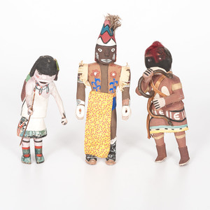 Three Hopi Katsinas, From the Collection of Charles McNutt, Sr.