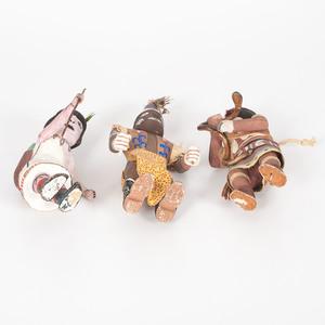 Three Hopi Katsinas, From the Collection of Charles McNutt, Sr.