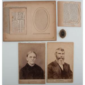 CSA Major Isaac Benson Civil War Pin and Cabinet Card, Plus