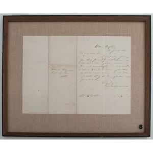 Secretary of War Simon Cameron ALS, June 18, 1861