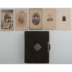 Collection of 26 Union CDVs with Album, Incl. Generals, 92nd Illinois Officer, and Other Personalities