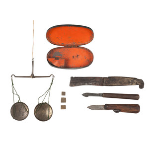 Elmira Prison Collection Including Hand Scale and Knives