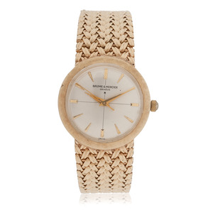 Baume & Mercier Geneve 14 Karat Yellow Gold Wrist Watch