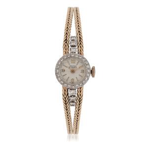Daumier 14 Karat Yellow Gold Diamond Watch