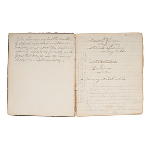 Johnson's Island POW Oswald Tilghman, Scrapbook Compiled at the Prison Camp, 1864, Plus