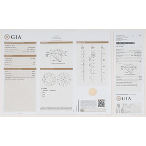 GIA Certified 2.77 Carat Round Brilliant Cut Diamond