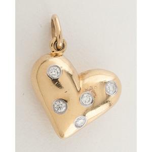 Tiffany & Co. Etoile 18 Karat Gold Diamond Heart Charm