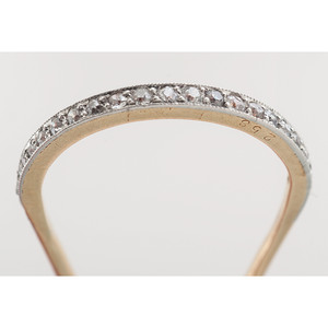 Cartier 18 Karat Gold and Platinum Diamond Hairpin