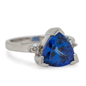 Rhapsody Platinum Tanzanite and Diamond Ring