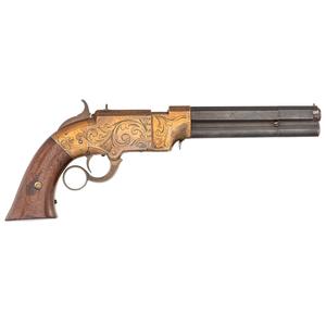 Engraved Volcanic Navy Pistol
