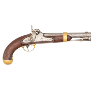 Aston Contract U.S. Model 1842 Percussion Pistol