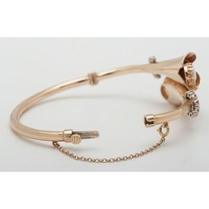 Casbah 14 Karat Gold Opal and Diamond Bracelet