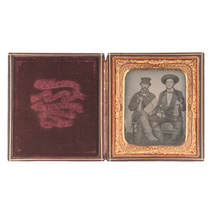 Sixth Plate Ambrotype of Railroad Workers by R.H. Vance, San Francisco