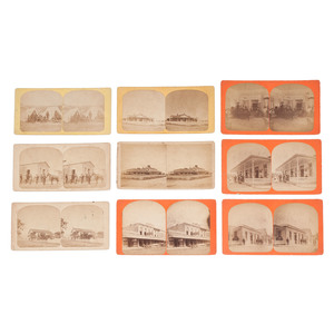 Texas Stereoview Collection, Lot of 9