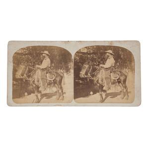 Cowboy Stereoview, San Antonio, TX, Ca 1860s