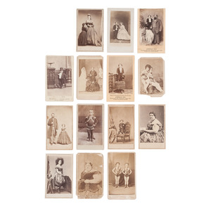 Collection of 14 CDVs Featuring Circus Acts and