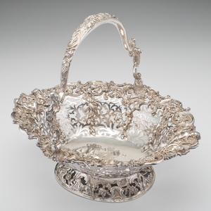 George III Sterling Cake Basket, William Tuite