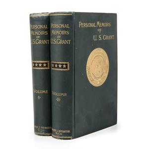 [Americana - Civil War] Personal Memoirs of U.S. Grant - 2 Volumes 1885 First Edition - Classic American Autobiography