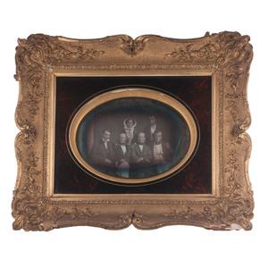Framed Full Plate Daguerreotype Group Portrait