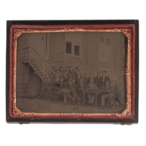 Quarter Plate Ambrotype Featuring a College Graduating Class, Ca 1863