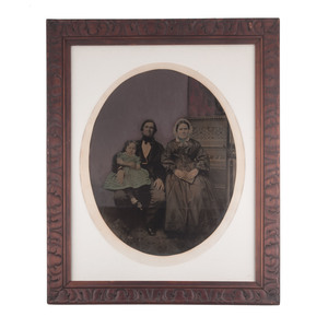 Very Rare Mammoth Plate Ambrotype of a Family