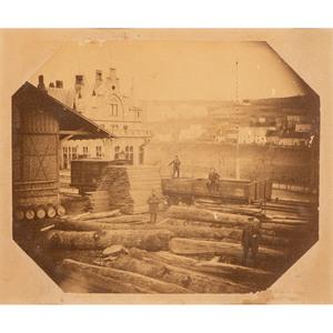 Lot of Two Albumen Prints of Industrial Scenes