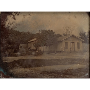 Pair of Whole Plate Outdoor Tintypes