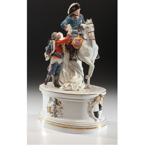 Meissen Statue of Frederick the Great, Purportedly Commissioned and Owned by Hitler, with Provenance