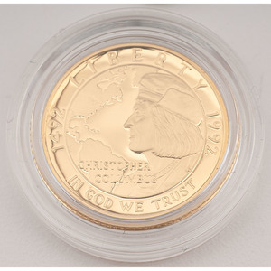 United States Columbus Quincentenary $5 Gold 1992-W, Proof