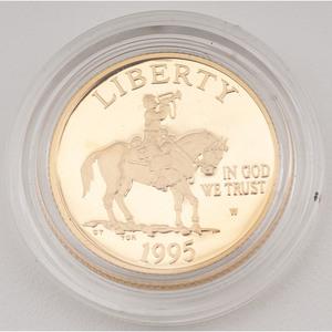 United States Civil War Battlefield Preservation $5 Gold 1995-W, Proof