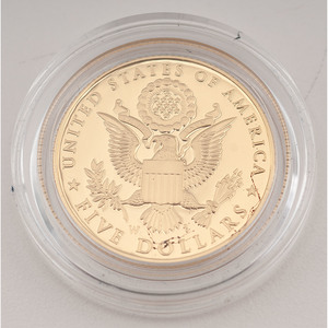 United States Bald Eagle Recovery and National Emblem $5 Gold 2008-W, Proof