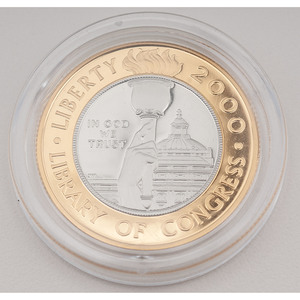 United States Library of Congress Bicentennial $10 Gold/Platinum 2000-W, Proof
