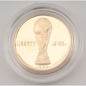 United States World Cup Tournament $5 Gold 1994-W, Proof